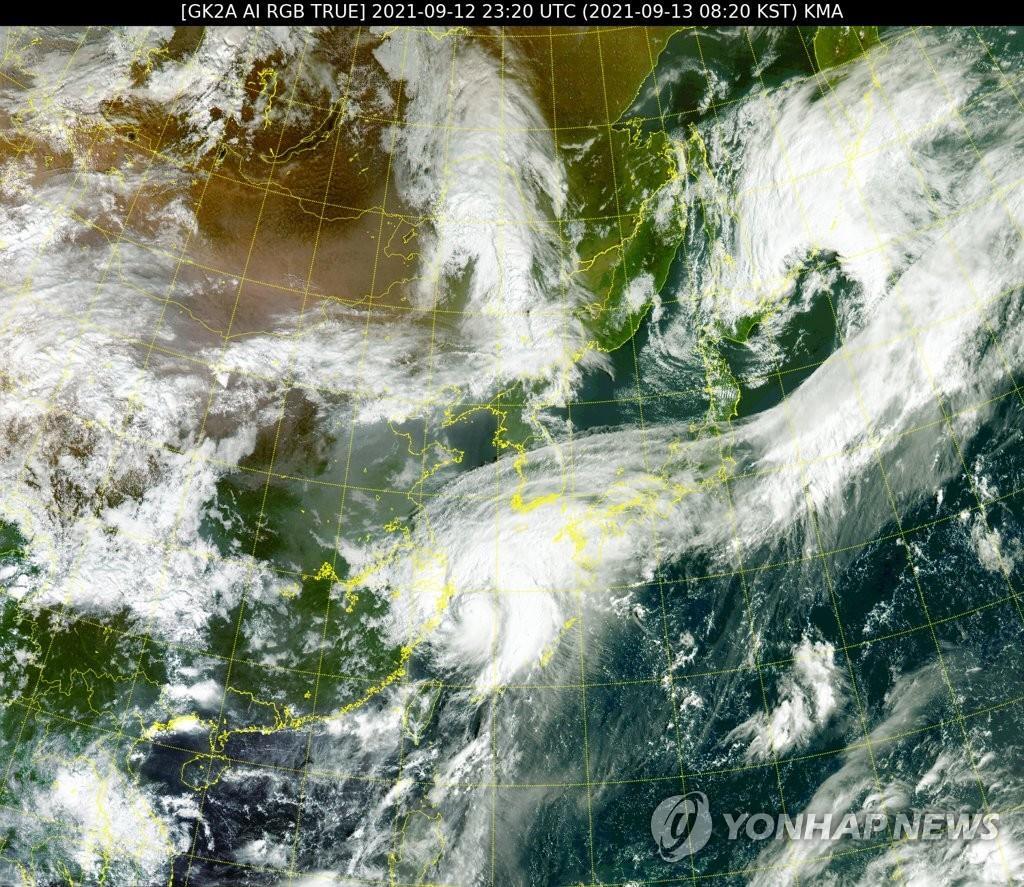 """颱風""""燦都""""將給南韓南部帶來明顯降雨"""