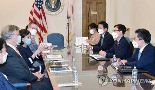 韓美貿易代表首次舉行線下會晤