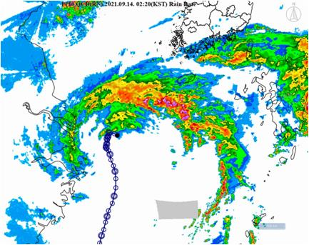 """颱風""""燦都""""本週將給韓南部地區帶來強降雨"""