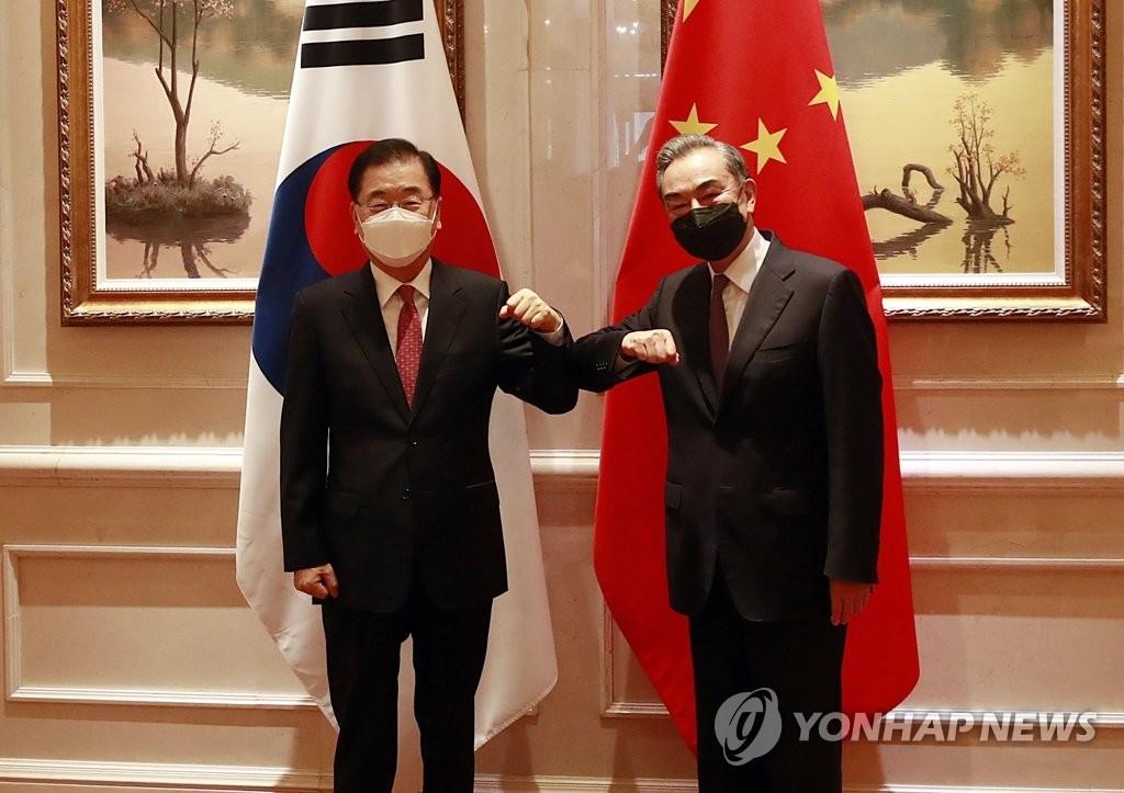南韓外長鄭義溶今將會見中國外長王毅