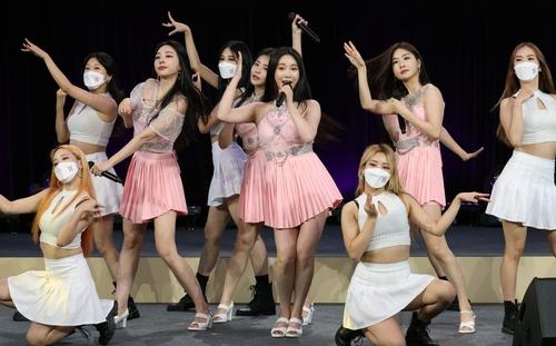 """9月15日,在首爾東大門設計廣場,""""2021—2022韓中文化交流年""""開幕式舉行。圖為宣傳大使Brave Girls獻藝。 韓聯社/文化體育觀光部供圖(圖片嚴禁轉載複製)"""