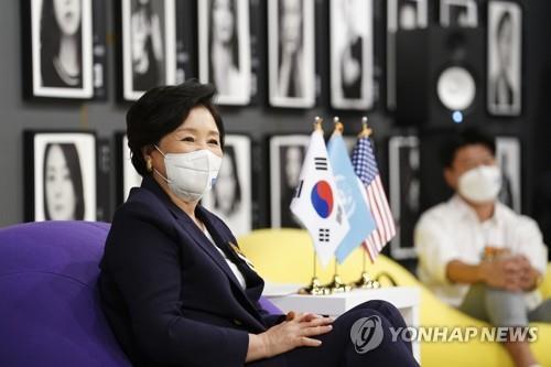 南韓第一夫人在美同韓裔文化界領袖座談
