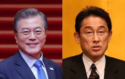 簡訊:文在寅同日本首相岸田文雄通電話