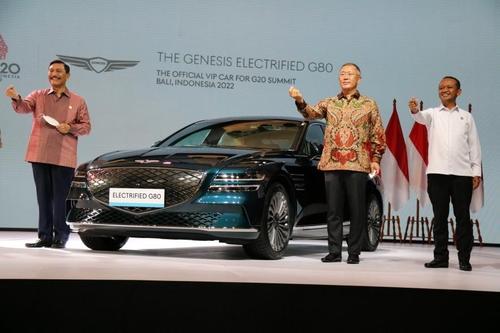 捷尼賽思G80電動版成為明年G20峰會禮賓車