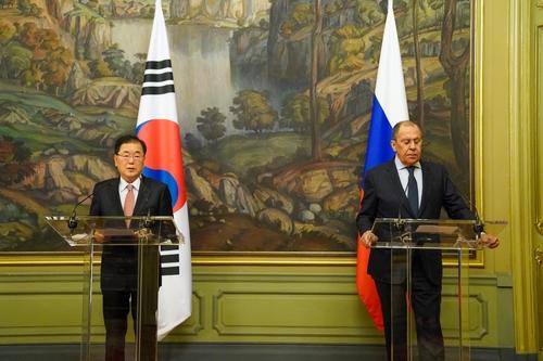 韓俄外長在莫斯科舉行會談