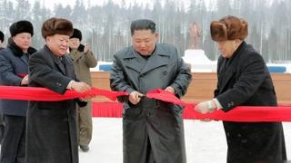 金正恩出席三池淵翻修工程竣工儀式