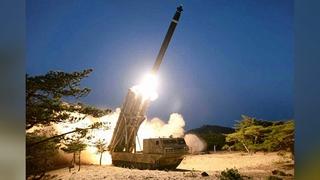 """朝媒證實昨射""""超大型多管火箭炮"""""""