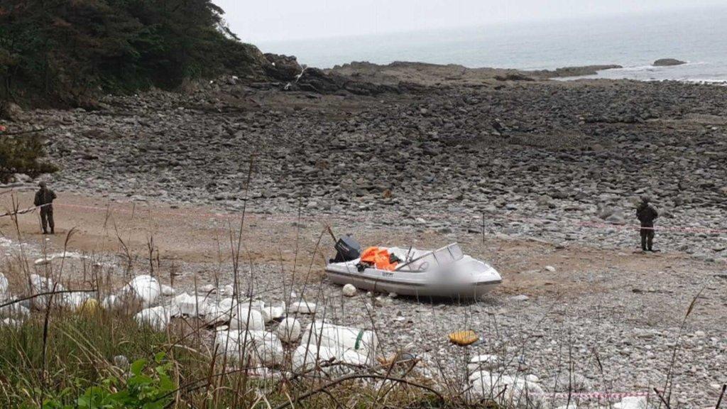 一中國男子涉嫌乘快艇偷渡韓西海岸被抓獲