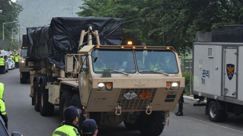 韓美將設備建材運入薩德基地 被疑含攔截導彈