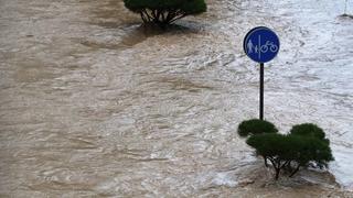"""颱風""""黑格比""""即將來襲 韓中部地區遭暴雨襲擊"""
