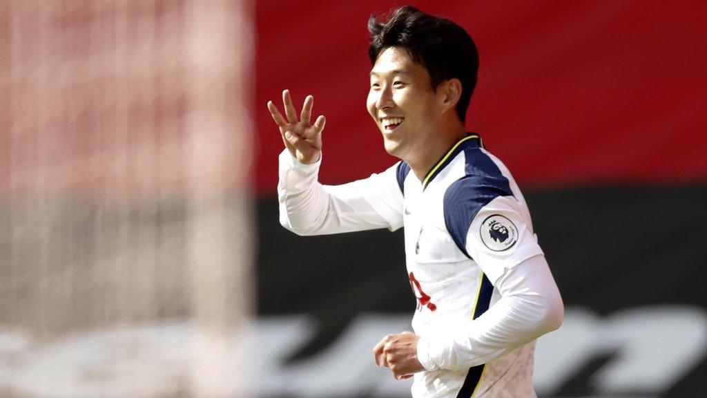 孫興慜首上演個人英超帽子戲法獨進4球