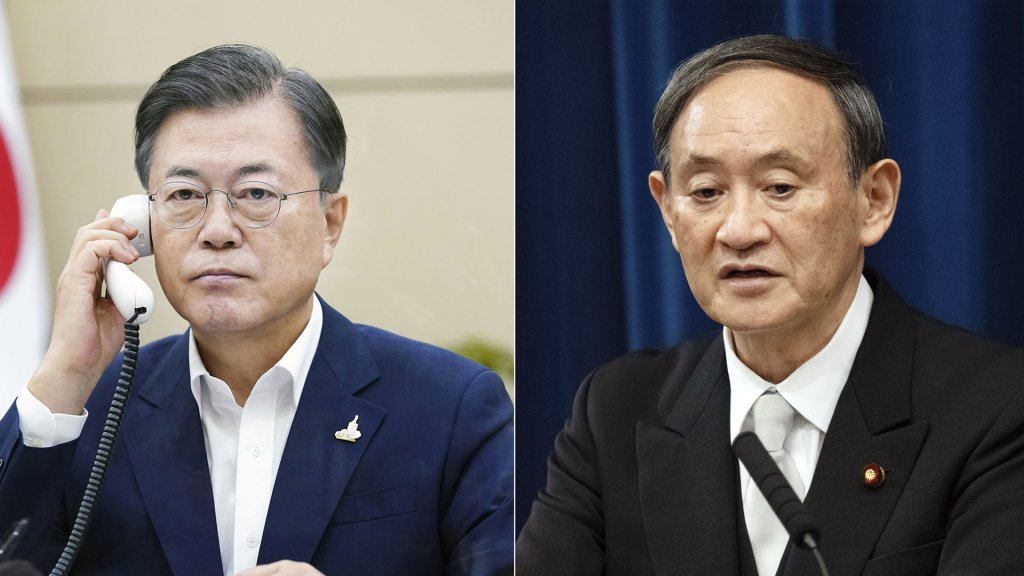 文在寅同日本新任首相菅義偉通電話