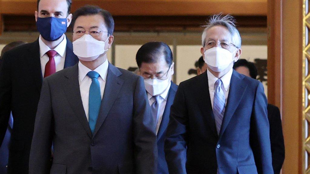 文在寅就核廢水入海向日駐韓大使表憂慮