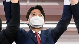 李俊錫當選韓最大在野黨黨首 史上最年輕