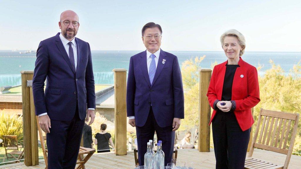 韓歐領導人在英舉行會談