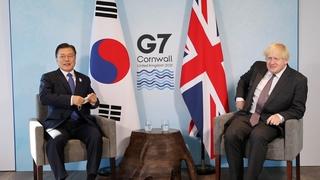 韓英領導人舉行會談