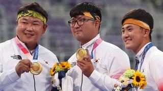 南韓隊摘得東京奧運男子射箭團體金牌