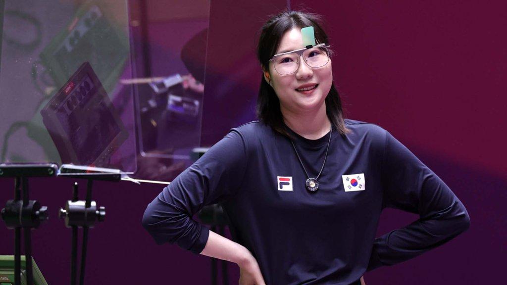 韓選手金珉靜斬獲東奧女子25米手槍銀牌
