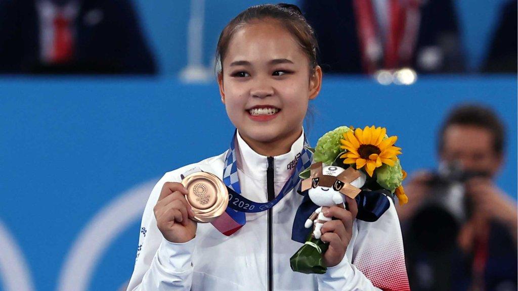 韓選手呂書晶斬獲東京奧運女子跳馬銅牌