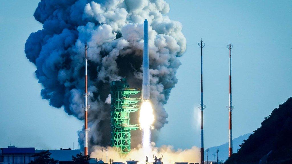 """南韓運載火箭""""世界""""號首發未能成功入軌"""