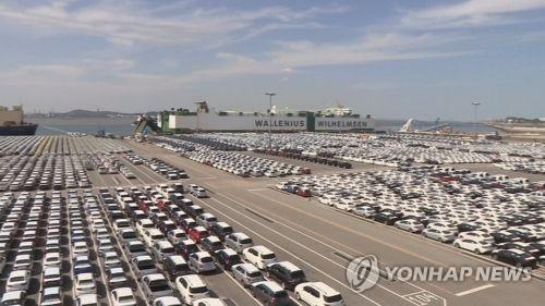 南韓今年首批出口電動汽車裝船啟航