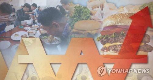 南韓5月外出就餐價格同比漲2.1%