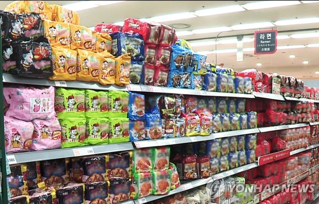 南韓泡麵今年前8月出口同比增37%