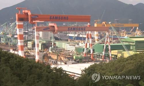 韓2月造船廠訂單量全球佔比67%位居第一
