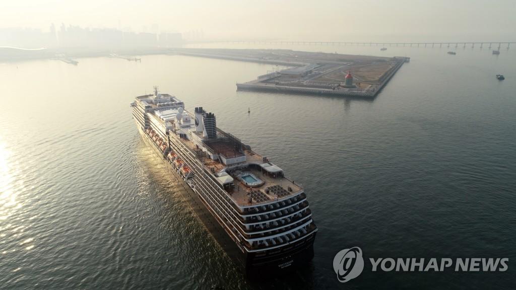 資料圖片:仁川港郵輪碼頭 韓聯社