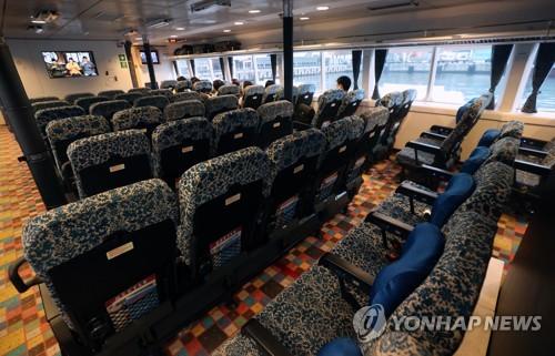 2019年下半年釜山至日本輪渡乘客減八成