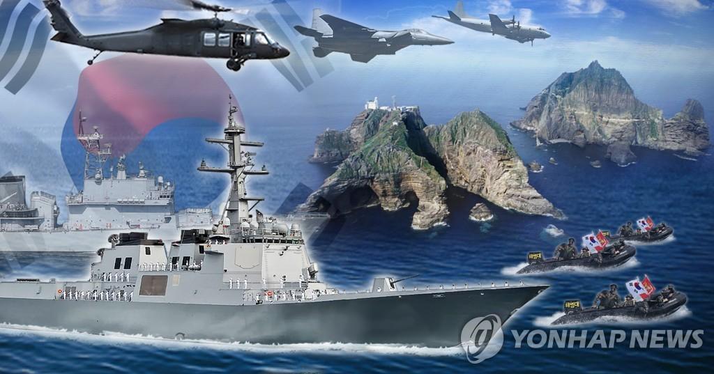 資料圖片:東海領土守護演習 韓聯社