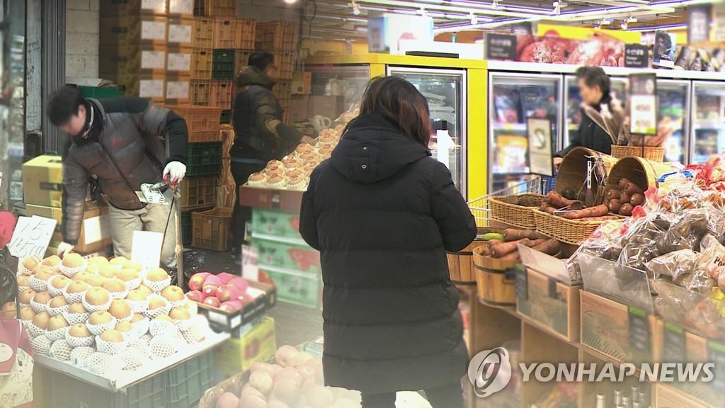 統計:韓居民第一季度生活必需消費佔比超四成