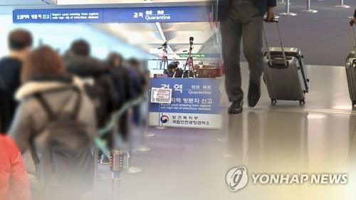 南韓單日新增境外輸入性新冠病例佔比15%