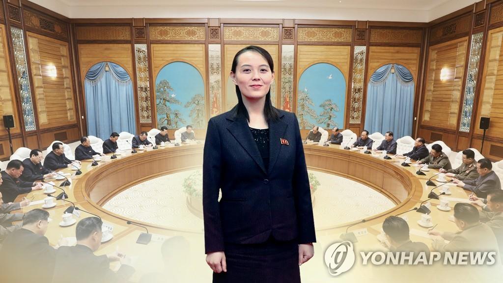 資料圖片:金與正 韓聯社TV(圖片嚴禁轉載複製)