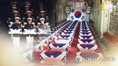 147具在朝陣亡韓軍遺骸今回國