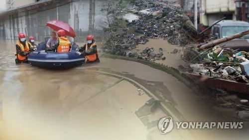 文在寅就中國暴雨災害向習近平致慰問電
