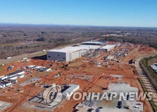 SK創新設于美國喬治亞州的電池廠 SK創新供圖(圖片嚴禁轉載複製)