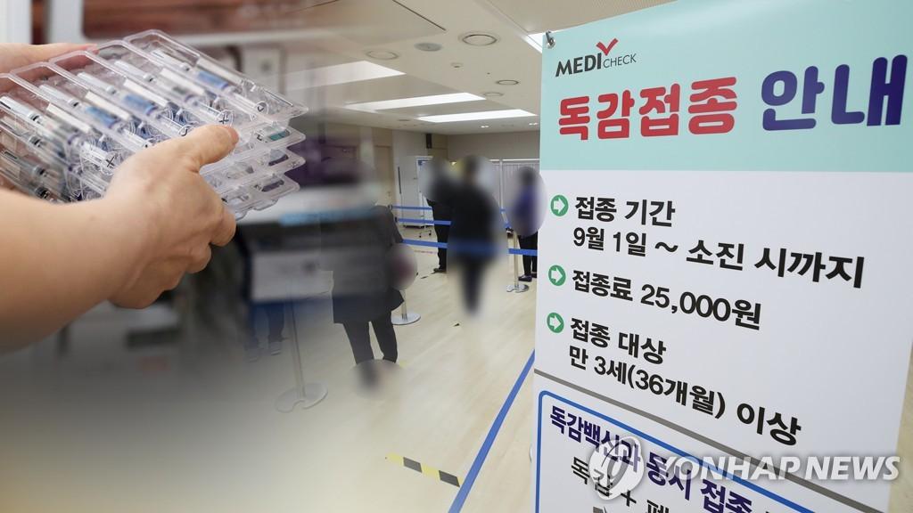 資料圖片:流感疫苗接種通知 韓聯社