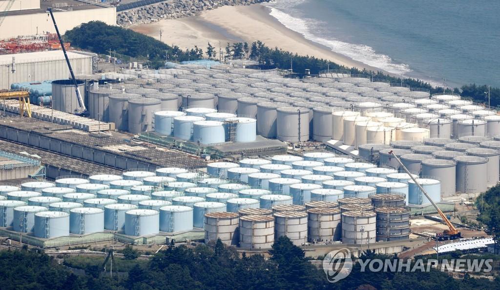 資料圖片:日本福島核電站污水儲存罐 韓聯社/共同社(圖片嚴禁轉載複製)