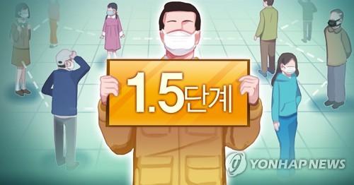 韓政府決定上調首都圈防疫響應級別至1.5級