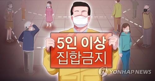 南韓首都圈23日起禁止5人以上聚會