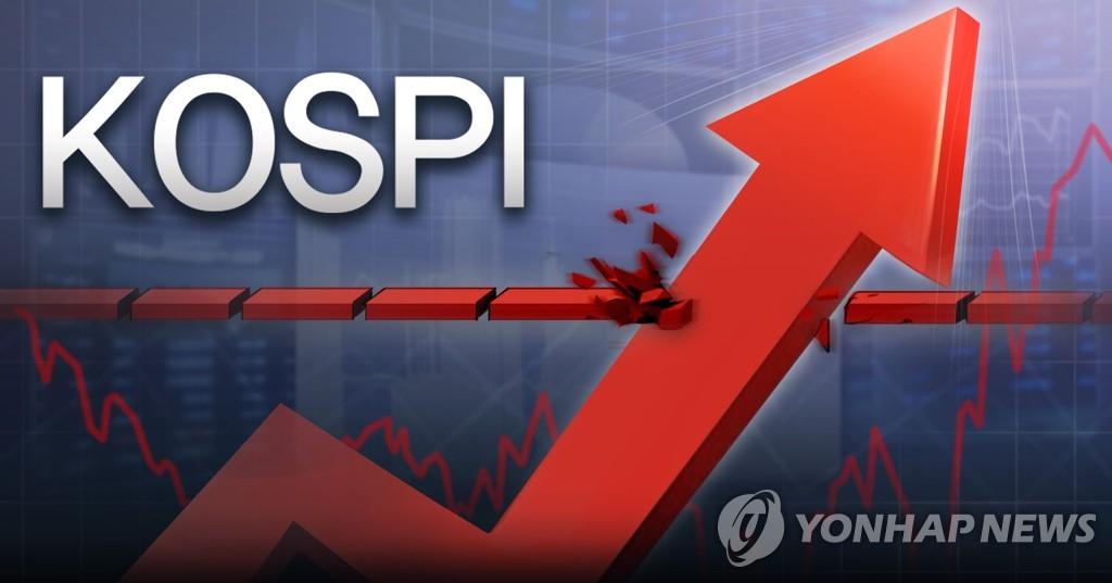 韓綜合股指收盤價連續三天創新高