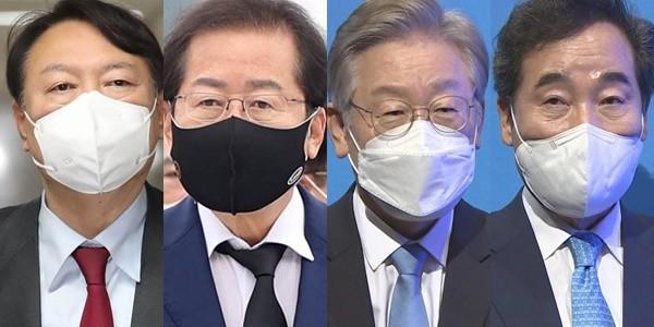 民調:韓總統人選民望李在明27.8%尹錫悅26.4%