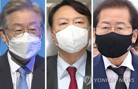 民調:韓總統人選民望李在明落後於洪準杓