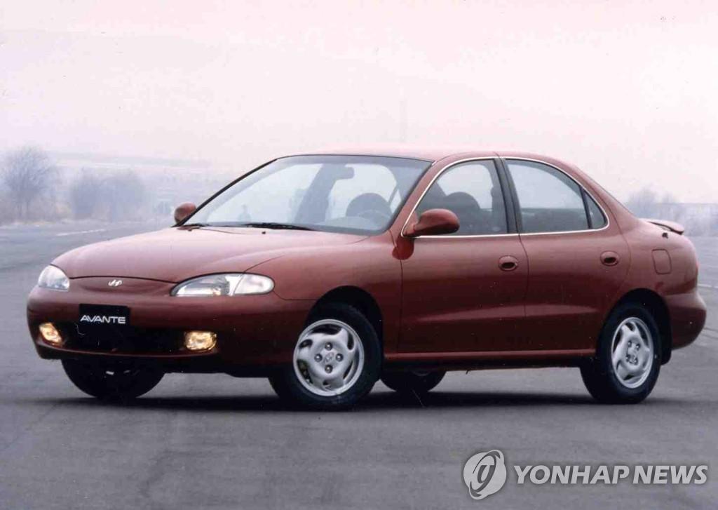 資料圖片:現代伊蘭特早期車型 韓聯社