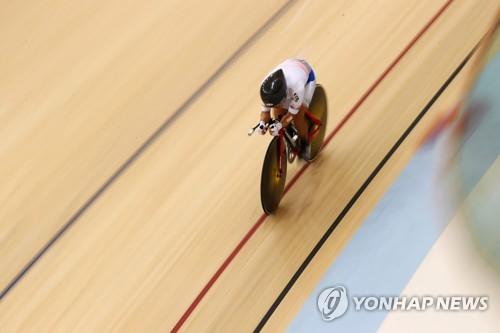 亞運自行車女子個人追逐賽南韓李珠美奪冠