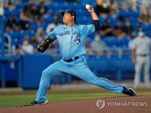 韓投手柳賢振奪美職棒本季首勝累積60勝