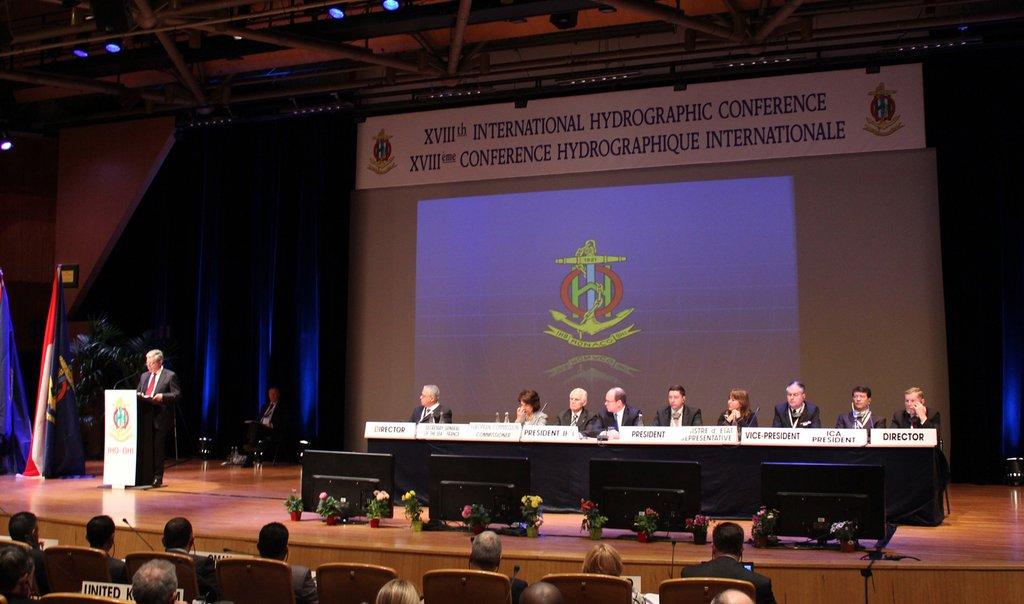 資料圖片:2012年國際海道測量組織大會現場(韓聯社)