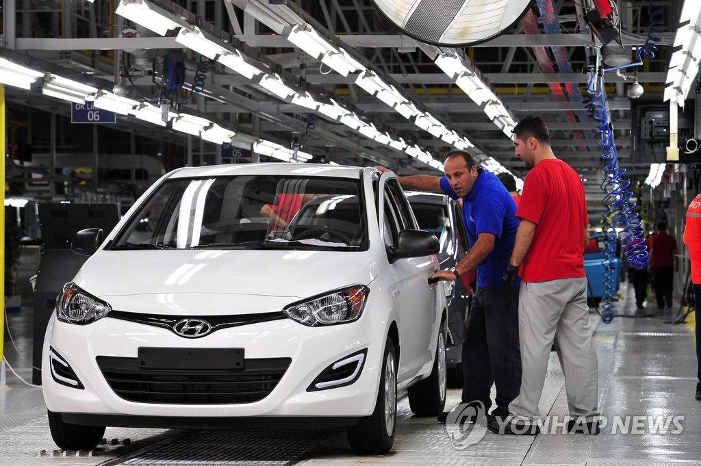 資料圖片:現代汽車土耳其工廠 韓聯社
