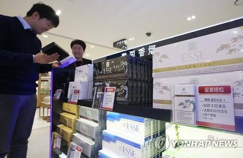南韓機場進境免稅店將銷售香煙